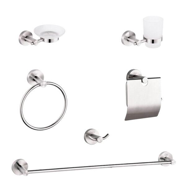 Imagen de Set de accesorios de baño QM RIA 6 piezas by Quality Metal