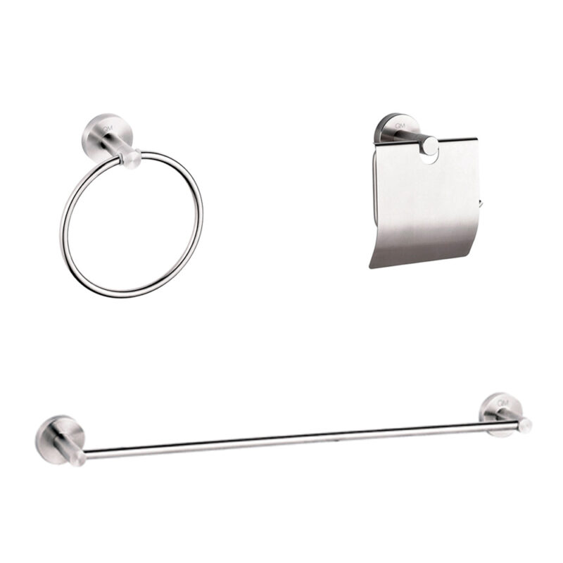 Imagen de Set de accesorios de baño QM RIA 3 piezas by Quality Metal