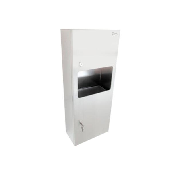 Imagen de dispensador de toallin con papelera ria QM RIA by Quality Metal