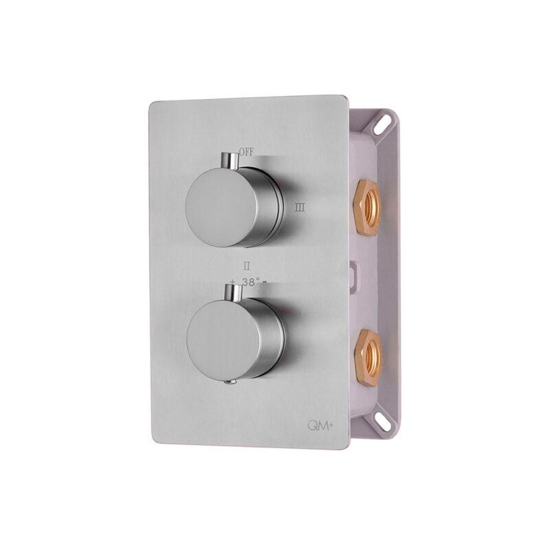 Imagen de mixer termostático tres funciones para ducha supreme QM+ supreme SATIN by Quality Metal